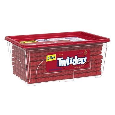 Twizzlers Licorice Candy, Strawberry, 5 Pound