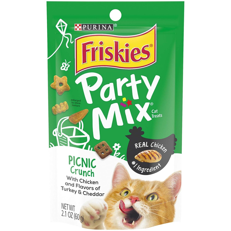 2.1-oz pouch American Distribution & Mfg 57442 Cat Treats, Picnic Party Mix, 2.1-oz. Pouch Quantity 1