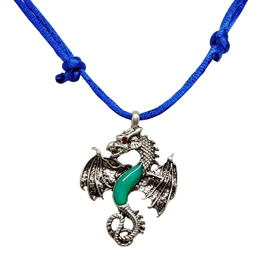 dragon on shipping free orders double crystal watches pewter necklace product red jewelry