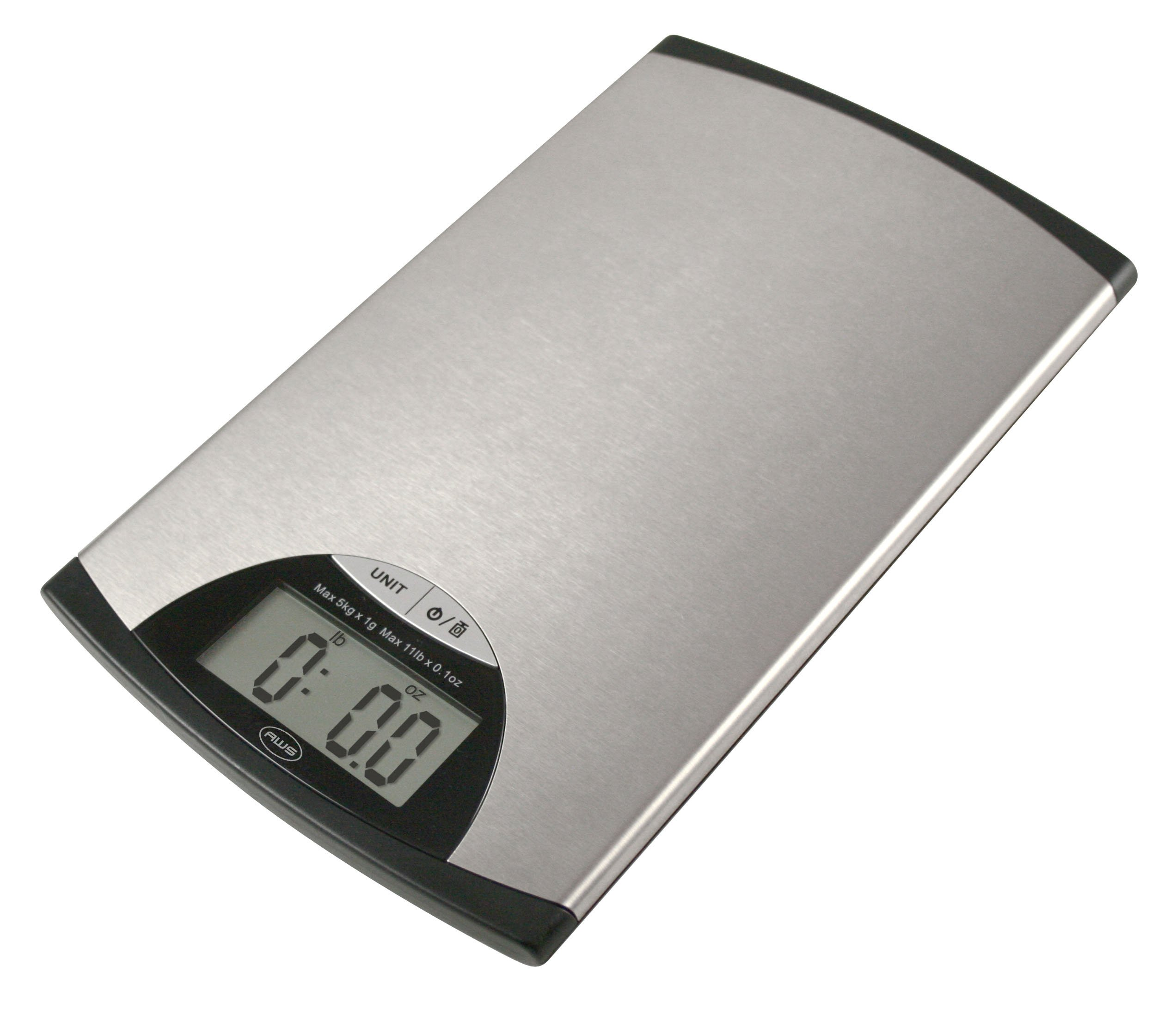 American Weigh Scales EDGE-5K Stainless Steel Digital Kitchen Scale, 11-Pound by 0.1-Ounce