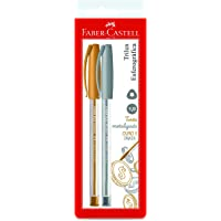 Trilux Colors Prata e Ouro, Faber-Castell, SM/032PO, Multicor, Pacote de 2