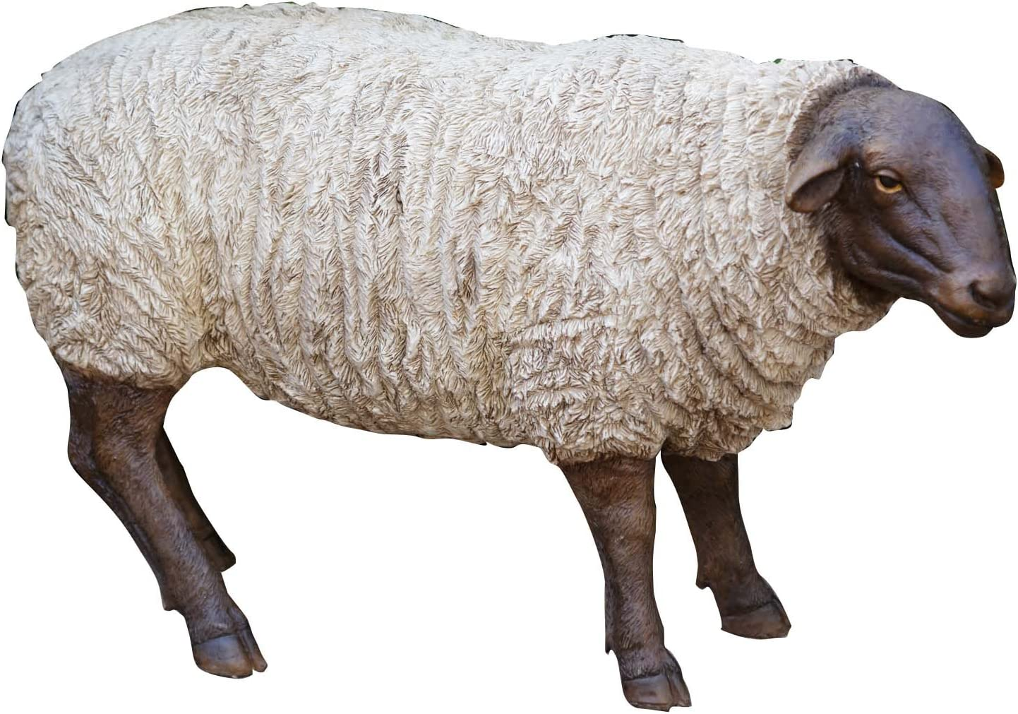 """Your Heart's Delight 16""""x5""""x9.5"""" Grazing Sheep Polyresin Figurine Statue"""