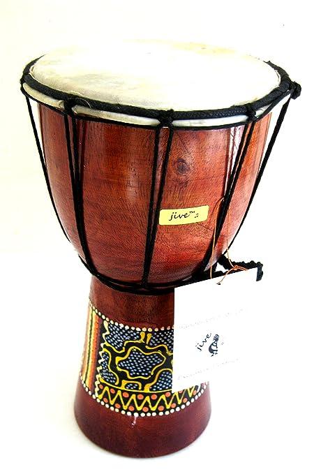 Djembe tambor africano Bongo Drum – Tambor de mano Jive marca profesional sonido, pintada a