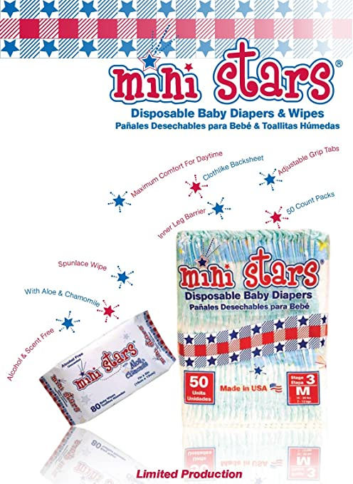 Amazon.com : Mini Stars Size 5 (27+ lbs), 50 count - Made in America : Health And Personal Care : Baby