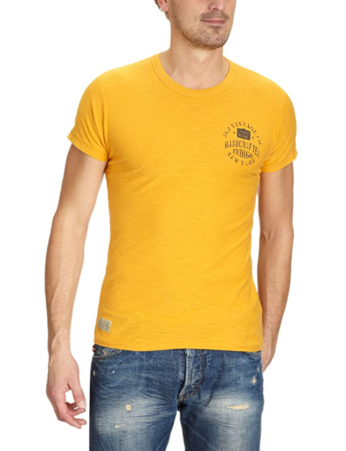 JACK & JONES VINTAGE Herren T-Shirt Slim Fit 12058777 ALL PURPOSE TEE SS,  Gr. 48 (S), Gelb (SUNFLOWER): Amazon.de: Bekleidung