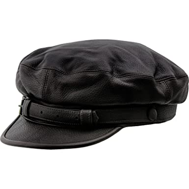 7efe4c68ed9 Sterkowski Genuine Leather Maciejówka Breton Style Cap  Amazon.co.uk   Clothing