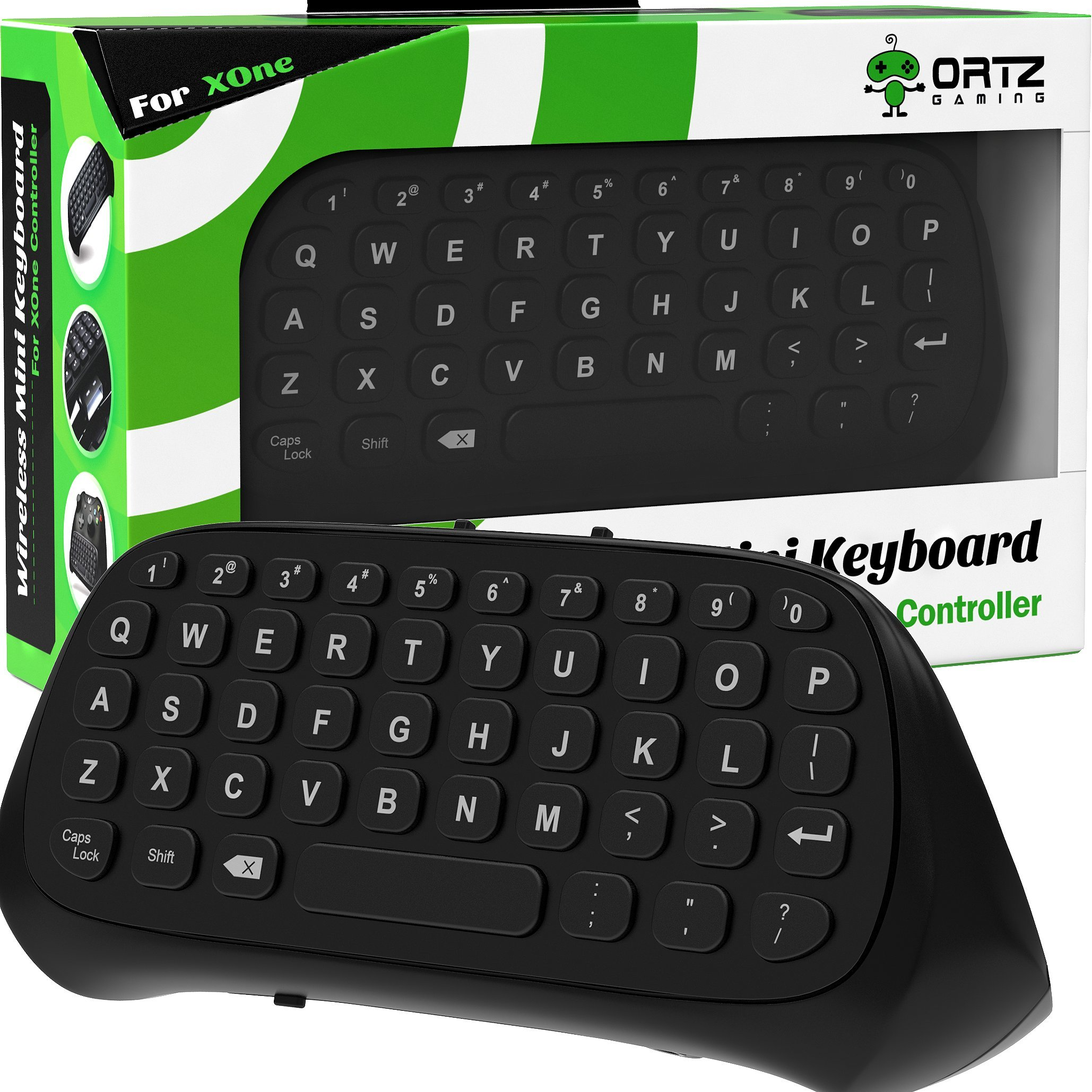 Ortz Xbox One Chatpad Keyboard KeyPad [with Headset/Audio Jack] Best for Wireless Chat - Built in USB Receiver for Xbox One Game Controller - Easy Sync with your Controller