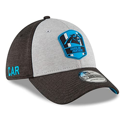 New Era 2018 3930 NFL Carolina Panthers Sideline Away Hat Cap Flex Fit (S  942b95d1b27a