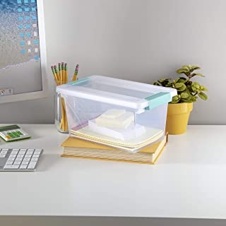 product image for Sterilite Medium Clip Storage Box, Clear (Pack of 4)