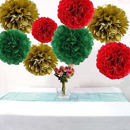 Amazon Com Christmas Hanging Decoration Tissue Paper Flowers Tissue