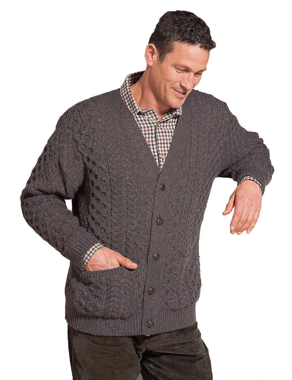Chums Mens Aran Style Knitwear Cardigan