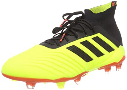 new style ab4bd 977c8 ... low cost adidas predator 18.1 fg football boots adult yellow black red  uk 3fb24 264e1