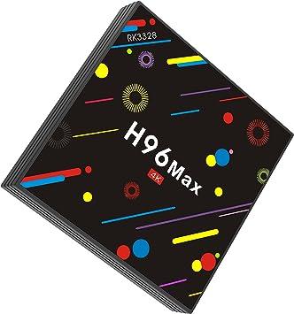 4GB 32GB H96 Max] TV Box, H96 MAX Android 7.1 Caja RK3328 Quad Core 4GB 32GB