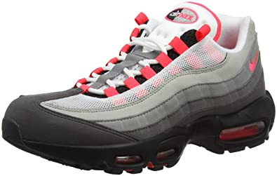 f617c733f4 Amazon.com | NIKE Men's Air Max 95 OG, White/Solar RED-Granite-DUST (4 M  US, White/Solar RED-Granite-DUST) | Fashion Sneakers