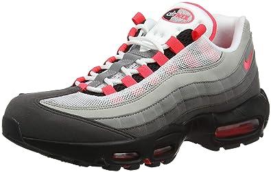 watch 632b3 3cec4 Amazon.com | NIKE Men's Air Max 95 OG, White/Solar RED-Granite-DUST (4 M  US, White/Solar RED-Granite-DUST) | Fashion Sneakers