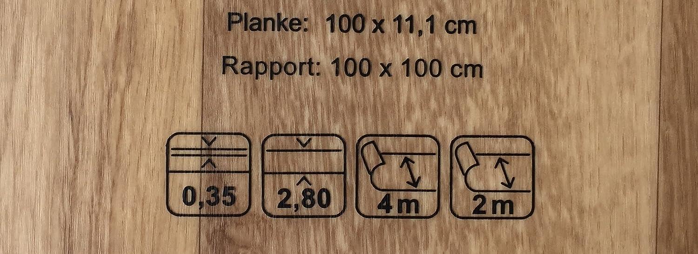 Made in Germany PVC-Bodenbelag XL Holzdielenoptik Rustikal Dunkelbraun Fu/ßbodenheizung geeignet e PVC Planken Vinylboden in 4m Breite /& 3m L/änge Stark strapazierf/ähiger Fu/ßboden-Belag