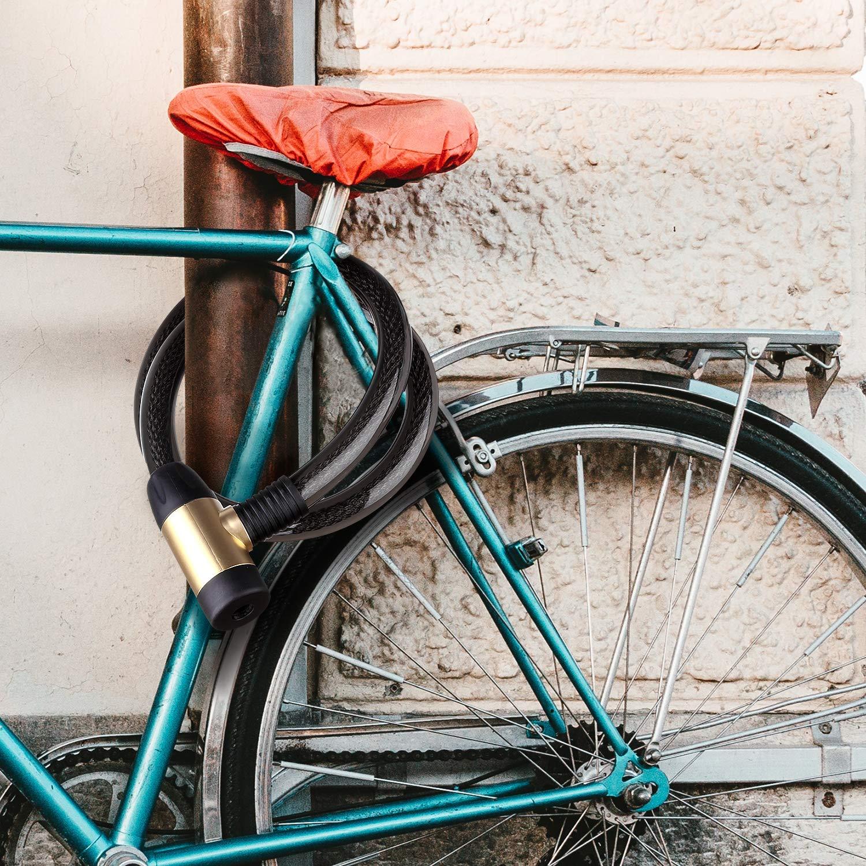 120 cm L/änge x 23 mm Durchmesser Motorradschloss Schloss Lager das Schloss ist aus Stahlkabel und Zink-Legierung und ist Sehr Stark. FOBOZONE Kabelschloss Fahrradschloss Tor