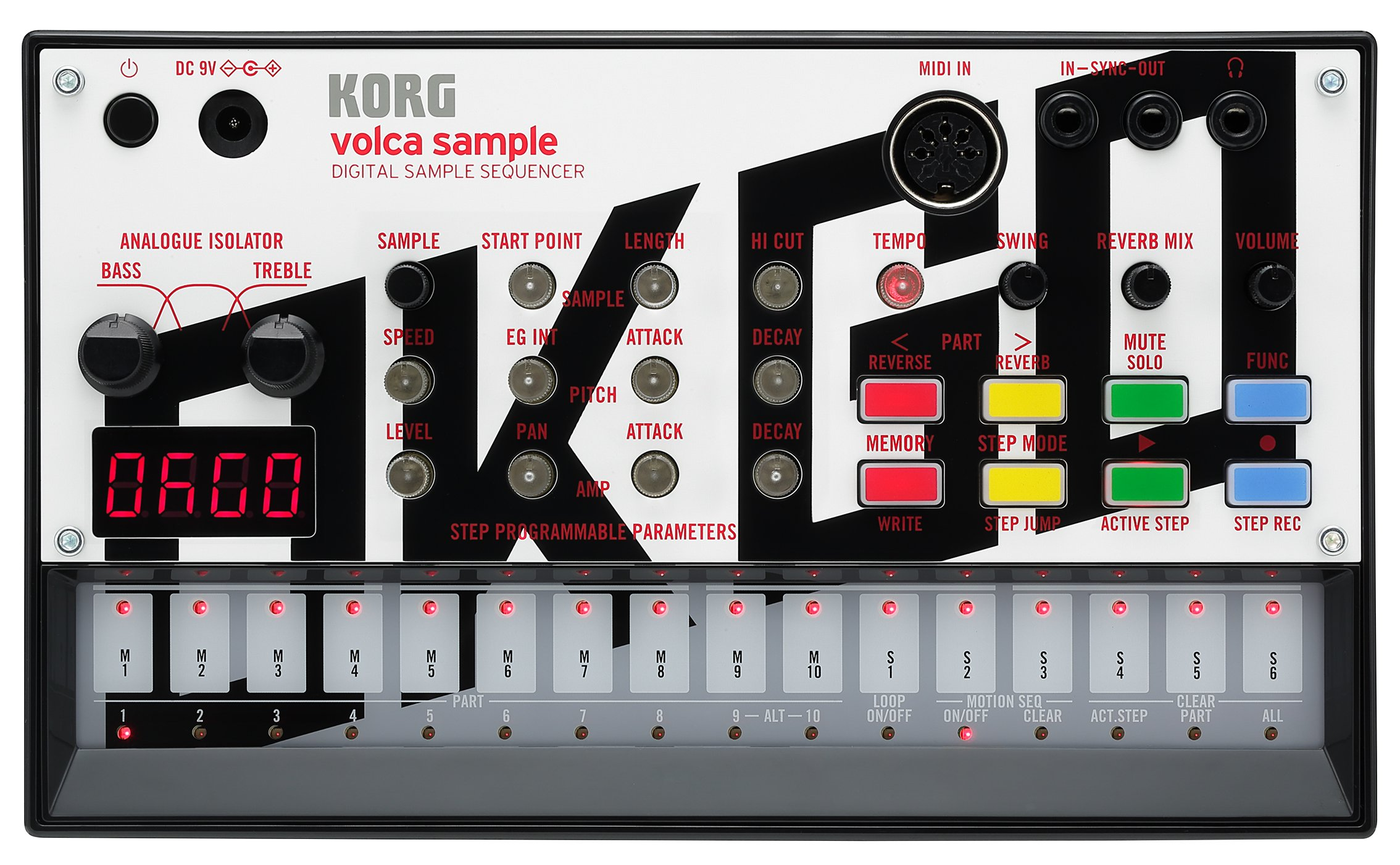 Korg VOLCAOKGO Limited Edition Version Volca Sample with Content & Panel Graphic (Created by OKGO)