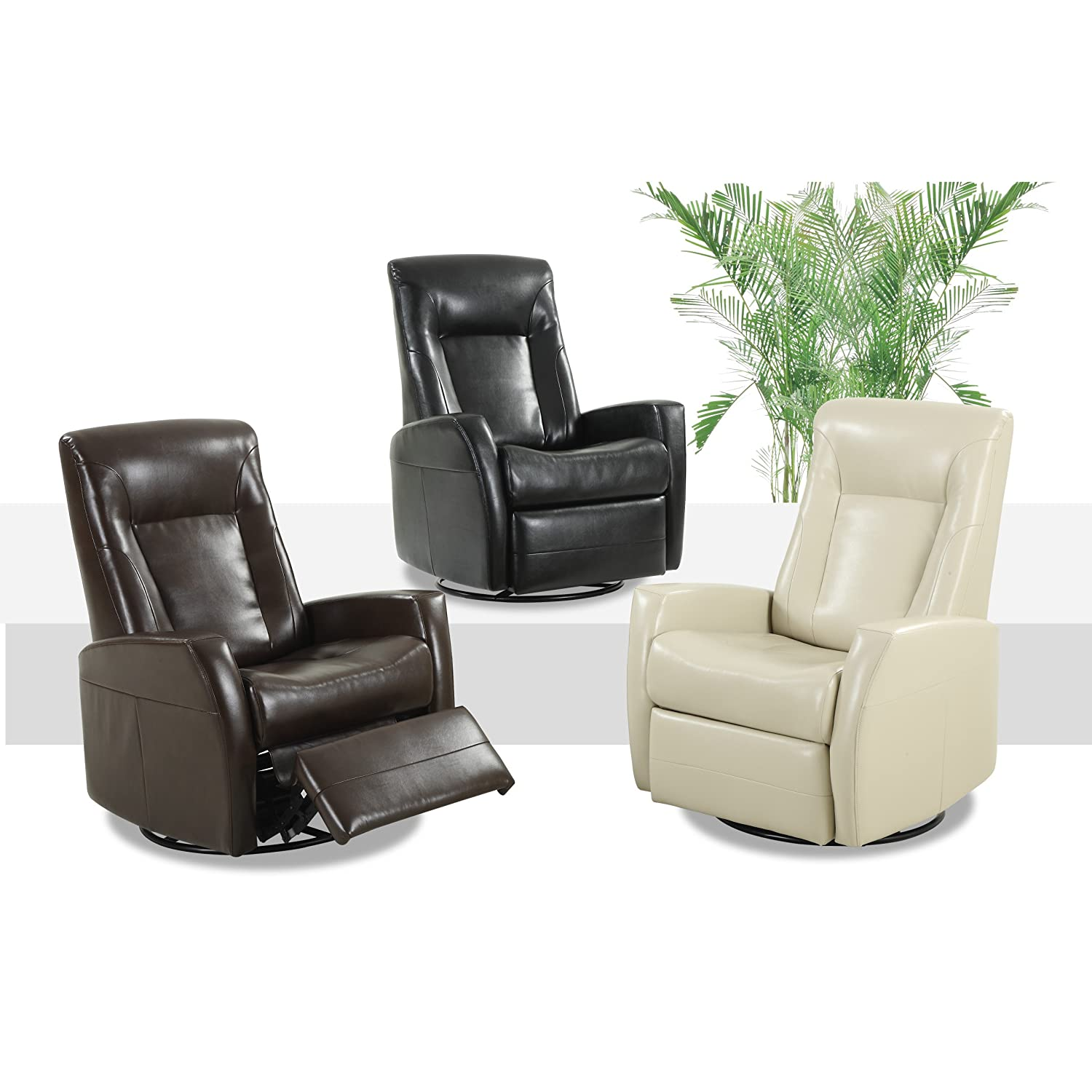 Astonishing Amazon Com Emerald Home Conrad Black Recliner With Faux Caraccident5 Cool Chair Designs And Ideas Caraccident5Info