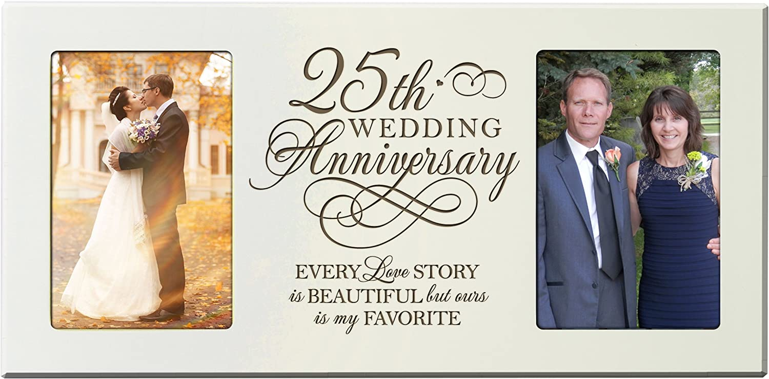 25th Silver Wedding Anniversary Photo Frame New Boxed WG60725