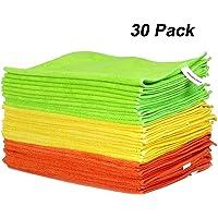 WORKPRO 30 Piezas- 3 Colores Bayetas de Limpieza
