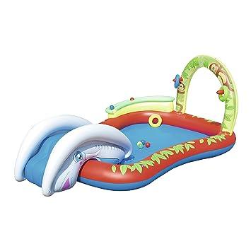 Bestway 53051 - Piscina Hinchable para niños con tobogán (Chorro de Agua y raíl de Bolas 279 x 173 x 102 cm): Amazon.es: Juguetes y juegos