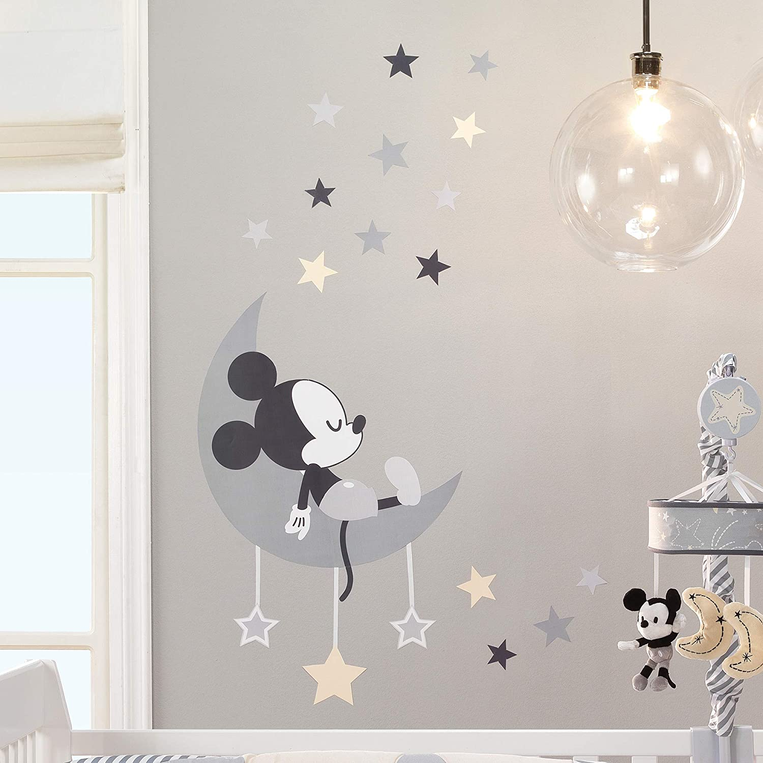 Gray Lambs /& Ivy Mickey Mouse Wall Decals