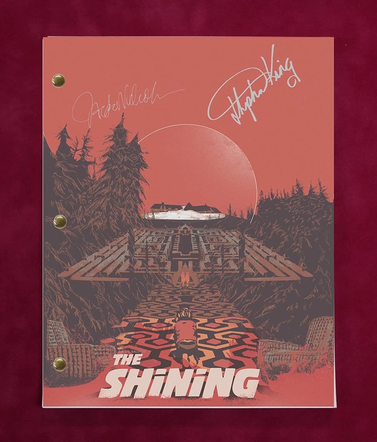 SHINING SCRIPT WITH REPRODUCTION SIGNATURES Nicholson'C3'