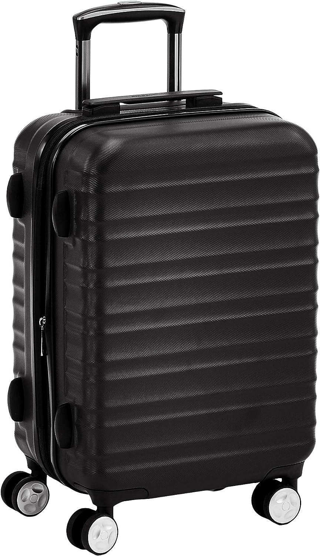 AmazonBasics  - Maleta rígida giratoria prémium de 55 cm, negra