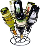 Oenophilia Bottle Bouquet Wine Rack, Gun Metal - 6 Bottle