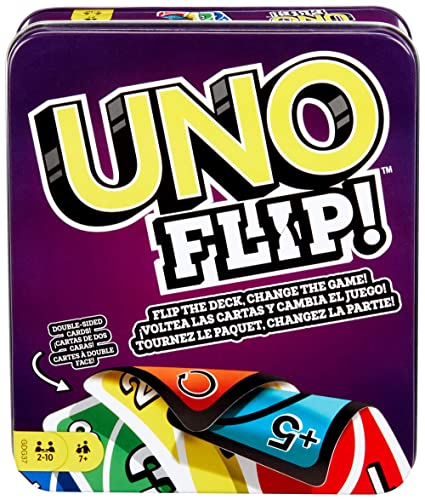 Mattel Games UNO Flip Tin [Amazon Exclusive]