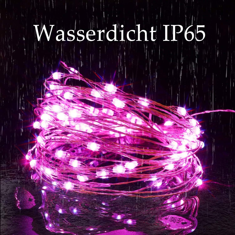 16 Farben LED Schlauch Au/ßen 12M 120er LEDs Lichterschlauch Dimmbar IP68 Wasserfest 132 Modi Lichtschlauch Lichterkette Strombetrieben Valentinstag Lichterkette mit Fernbedienung f/ür Balkon Party