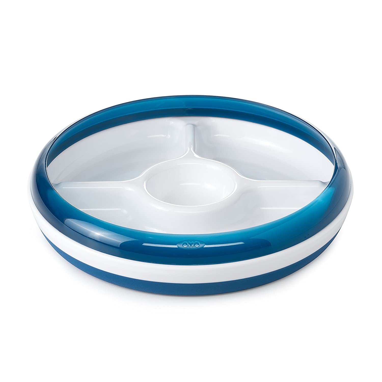 OXO Tot Divided Plate with Removable Training Ring - Navy