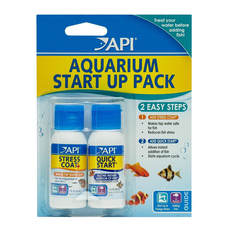 Fish tank quick cycle - Amazon Com Api Aquarium Start Up Pack With Stress Coat And Quick Start Water Conditioner For Aquariums Aquarium Filter Accessories Pet Supplies