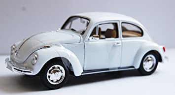 1967 rot weiß 1:24 Welly Volkswagen Käfer