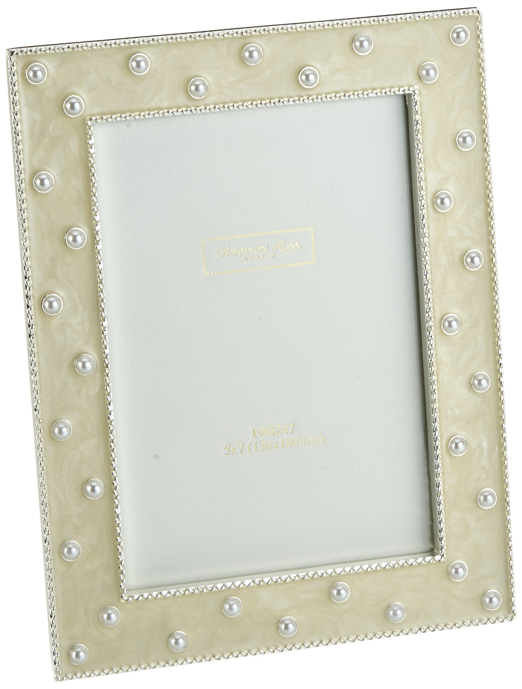 5x7 Startburst Cream Enamel 5 x 7 Inches Wedding Photo Frame Addison Ross