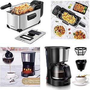 Aigostar Deep Fryer & 4 Cup Coffee Maker
