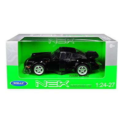 Porsche 964 Turbo Black 1/24-1/27 Diecast Model Car by Welly 24023: Toys & Games