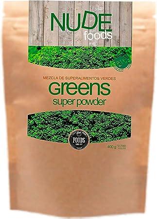 NUDE Foods Súper Greens Premium | Ecológico Certificado ...