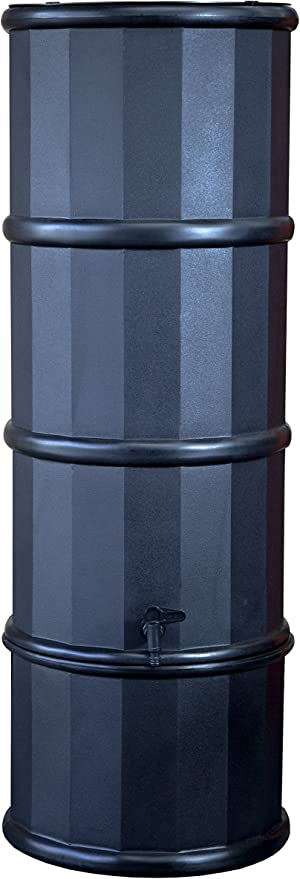 jardin Pack de 3 plastique noir waterbutt eau butt robinets