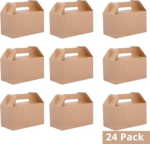 Belle Vous Cajas Regalo Papel Kraft (Pack de 24) - 16x9x9cm Caja ...