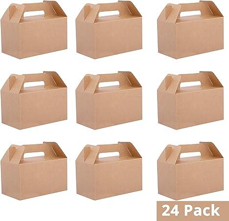 Belle Vous Cajas Regalo Papel Kraft (Pack de 24) - 16x9x9cm Caja de Presentacion con Tapa - Comida Paquete Caja para Magdalenas, Chocolates, Cumpleaños, Boda, Favores de Fiesta, Baby Shower: Amazon.es: Hogar