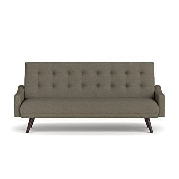 Handy Living Oakland Click Clack Futon Sofa Bed, Tobacco Linen/Brown