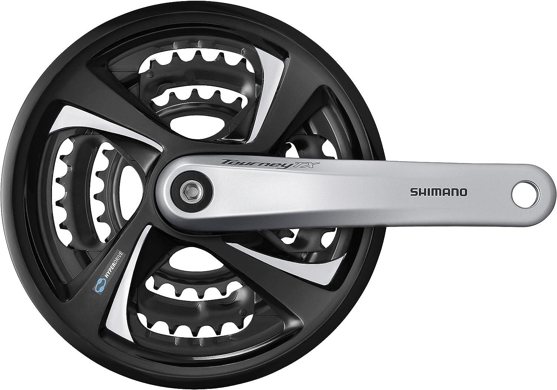 Shimano Tourney TX FC-TX801 Kurbelgarnitur 42//32//22 Zähne 7-//8-fach 170mm silber