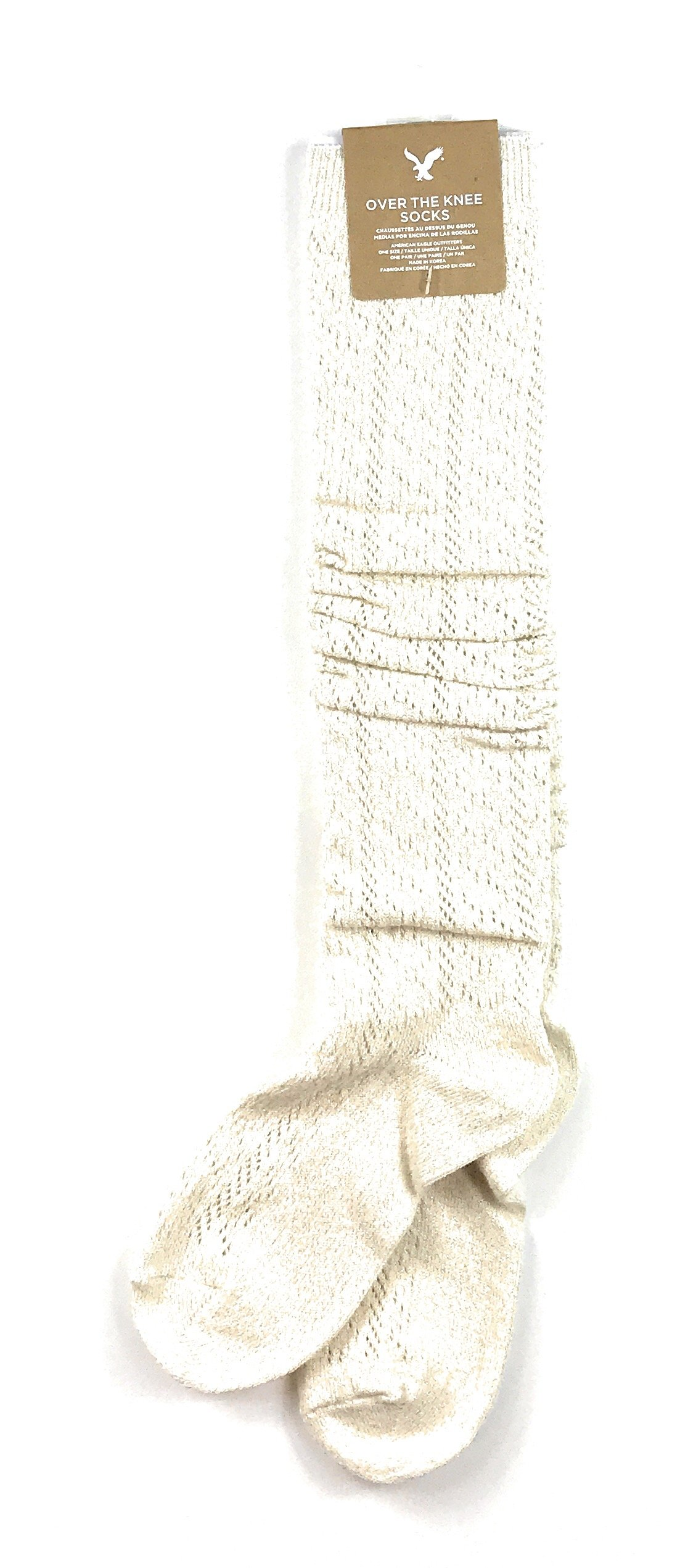 American Eagle Women's Thick Knit Over-the-knee fit (0/S, One size) (Oatmeal 106)