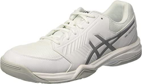 Asics Mens Gel-Dedicate 6 Tennis Shoes White Sports Breathable Lightweight