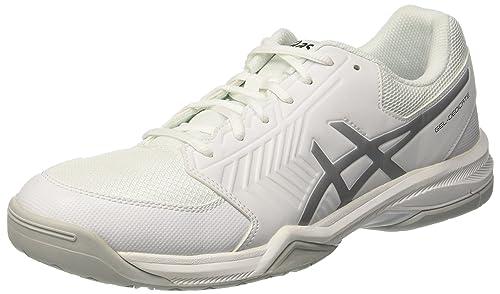 Asics Gel Dedicate 5 Scarpe da Ginnastica Uomo Bianco White/Silver 43.5 EU