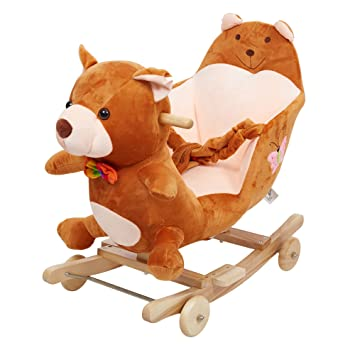 Amazon Com Karmas Product Baby Kids Rocking Horse Toy Child Wooden