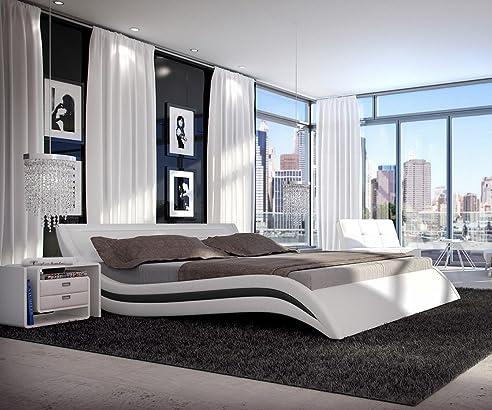 Polsterbett Sempre Weiss Schwarz 180x200 Cm Bett 180cm Awesome Design