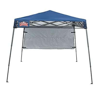 Backyard Champs Backpack 36' 7'x7' Instant Canopy: Midnight Blue Top, Gray Frame: Sports & Outdoors